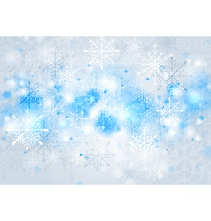 Bright blue Christmas background vector image