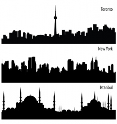 cityscape collection vector image vector image