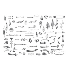 Hand drawn different elements vector image