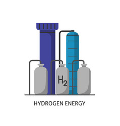 hydrogen plant icon in flat style vector image vector image