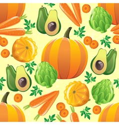 orange vegetables seamless vector image vector image