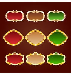 set of template frames vector image vector image