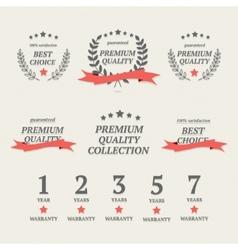 Set of vintage premium quality elements vector image
