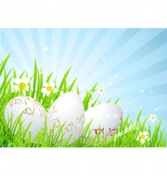 spring field Easter vector image vector image