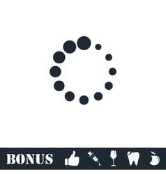 Loading icon flat vector image