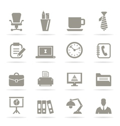 Office icons9 vector image vector image