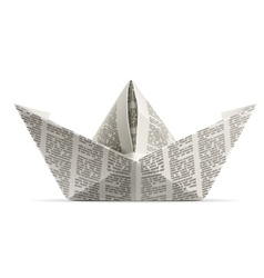paper ship origami vector image vector image