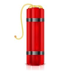 Red dynamite sticks vertical vector