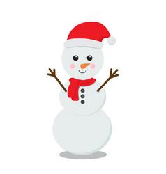 snowman cartoon character vector image