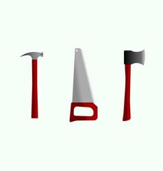 ax hacksaw hammer vector image