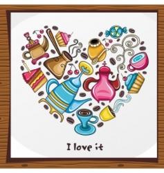 coffee lover scene vector image