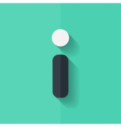 Information web icon FAQ symbol Flat design vector image