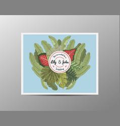 Wedding invitation card vintage engraved template vector