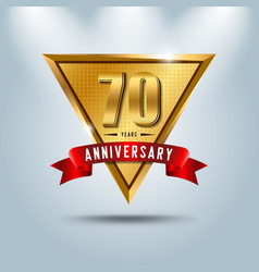 70 years anniversary celebration logotype vector image