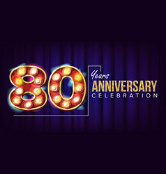 80 years anniversary banner eighty-eight vector image