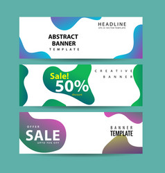 abstract banner design web template collection of vector image