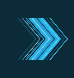 Abstract blue arrow direction speed vector