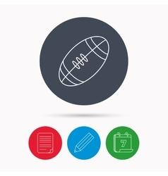 American football icon Sport ball sign vector