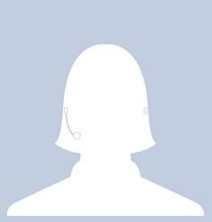 Avatar head profile silhouette call center female vector