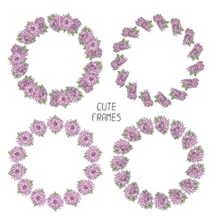 beautiful floral frame Background Cute wreath vector image