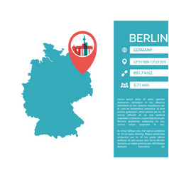 Berlin map infographic vector