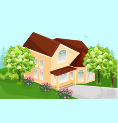 big house real estate architecture houses vector image