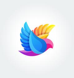 Bird abstract logo design template flying dove vector