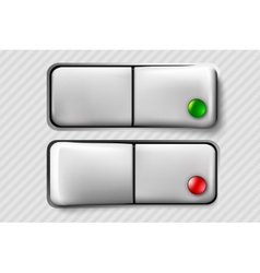 button switch vector image