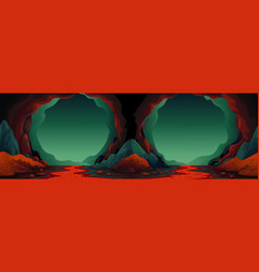 Cave - seamless background cavern vector