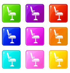 Chair set 9 vector