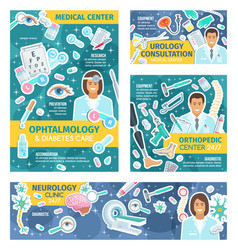 clinic doctors hospital staff and health medicine vector image