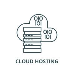 cloud hosting line icon cloud hosting vector image