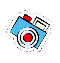 comic photo camera image vector image