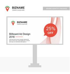 company bill board ad design with logo and vector image