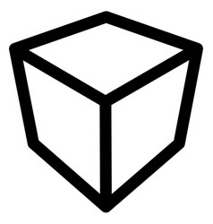 crate box or cube icon symbol geometry shipping vector image