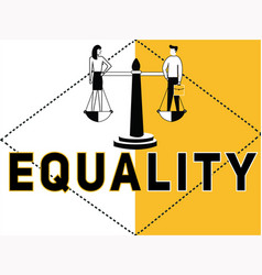 creative word concept equality and people doing vector image