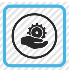 Development service icon in a frame vector
