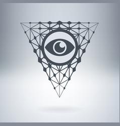Digital all-seeing eye watching you vector