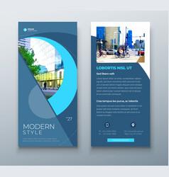 Dl flyer design blue business template vector