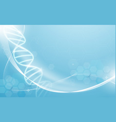 dna and heart rate medicine and science concept vector image