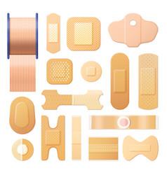 Elastic adhesive bandage realistic plaster strip vector
