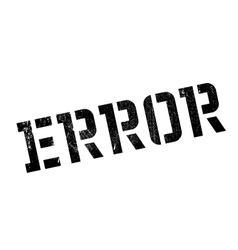 Error rubber stamp vector