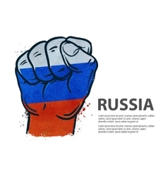 Fist flag russia moscow vector