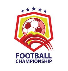 Football championship logo vector