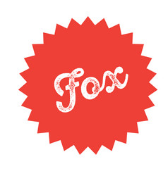 foxtrot stamp on white vector image
