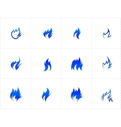 Gas fire icon set vector image