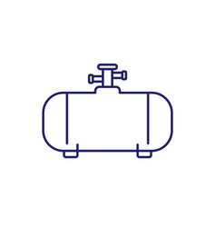 Gas tank industrial cylinder line icon vector