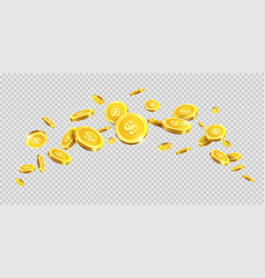 gold coins or golden money coin splash splatter on vector image