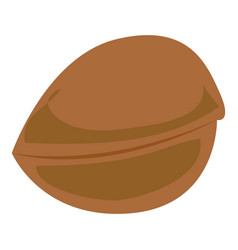 greek nut icon cartoon style vector image