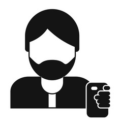 hipster man take selfie icon simple style vector image
